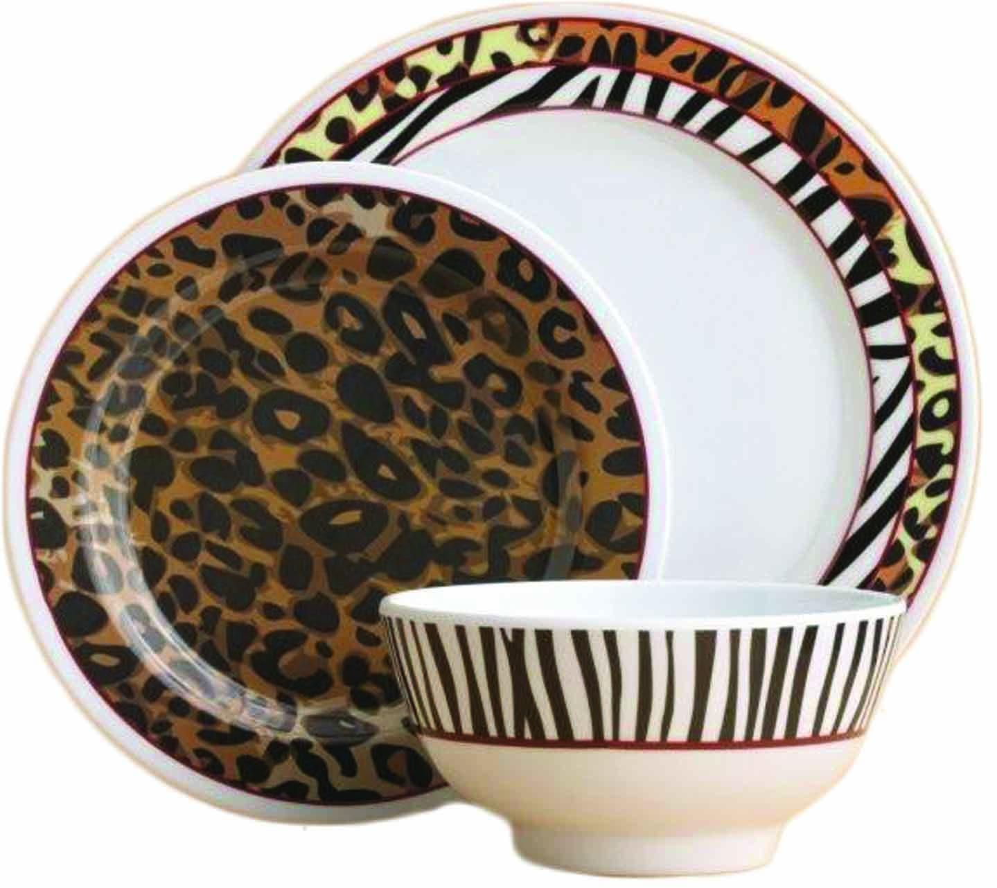 Ever since I moved out on my own and was able to decorate my own spaces I have always wanted a leopard print plate set!  sc 1 st  Pinterest & Ever since I moved out on my own and was able to decorate my own ...