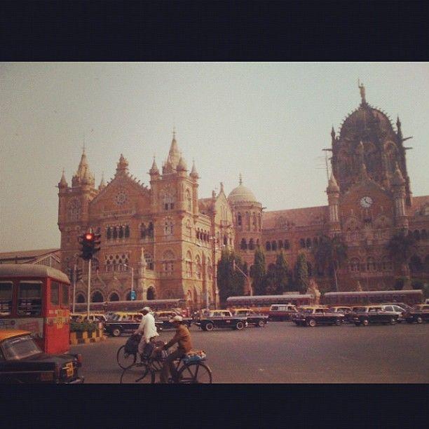 CST Train Station in Mumbai, India   #Train #India #palace #architecture #indian #travel #world #love #transportation #travel #sightseeing #happiness #instacollage #instahub #instapic