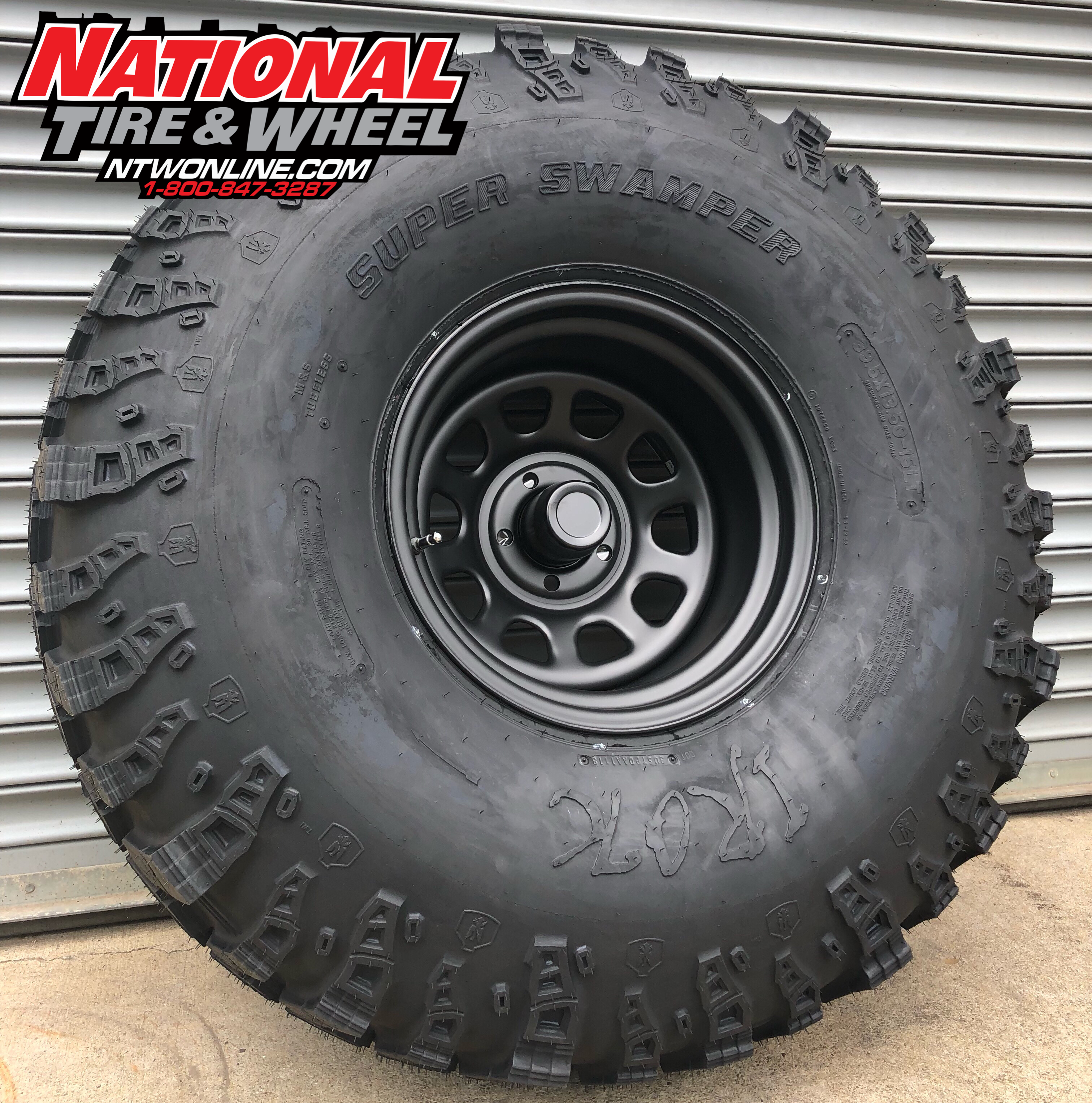 National Tire And Wheel >> 15x10 Flat Black Steel Wheel Mounted Up To A 39 5x13 50 15 Super