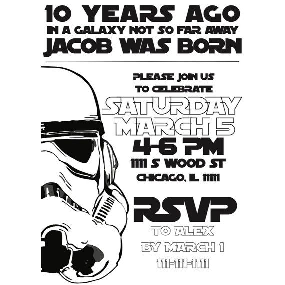 invitation anniversaire star wars star wars birthday 9 pinterest a imprimer. Black Bedroom Furniture Sets. Home Design Ideas