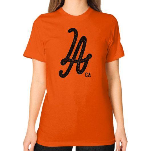 Los Angeles CA Unisex T-Shirt (on woman)