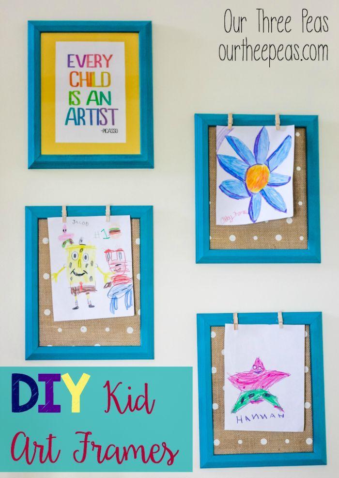 DIY Kid Art Frames | Pinterest | Third, Craft and Craft activities