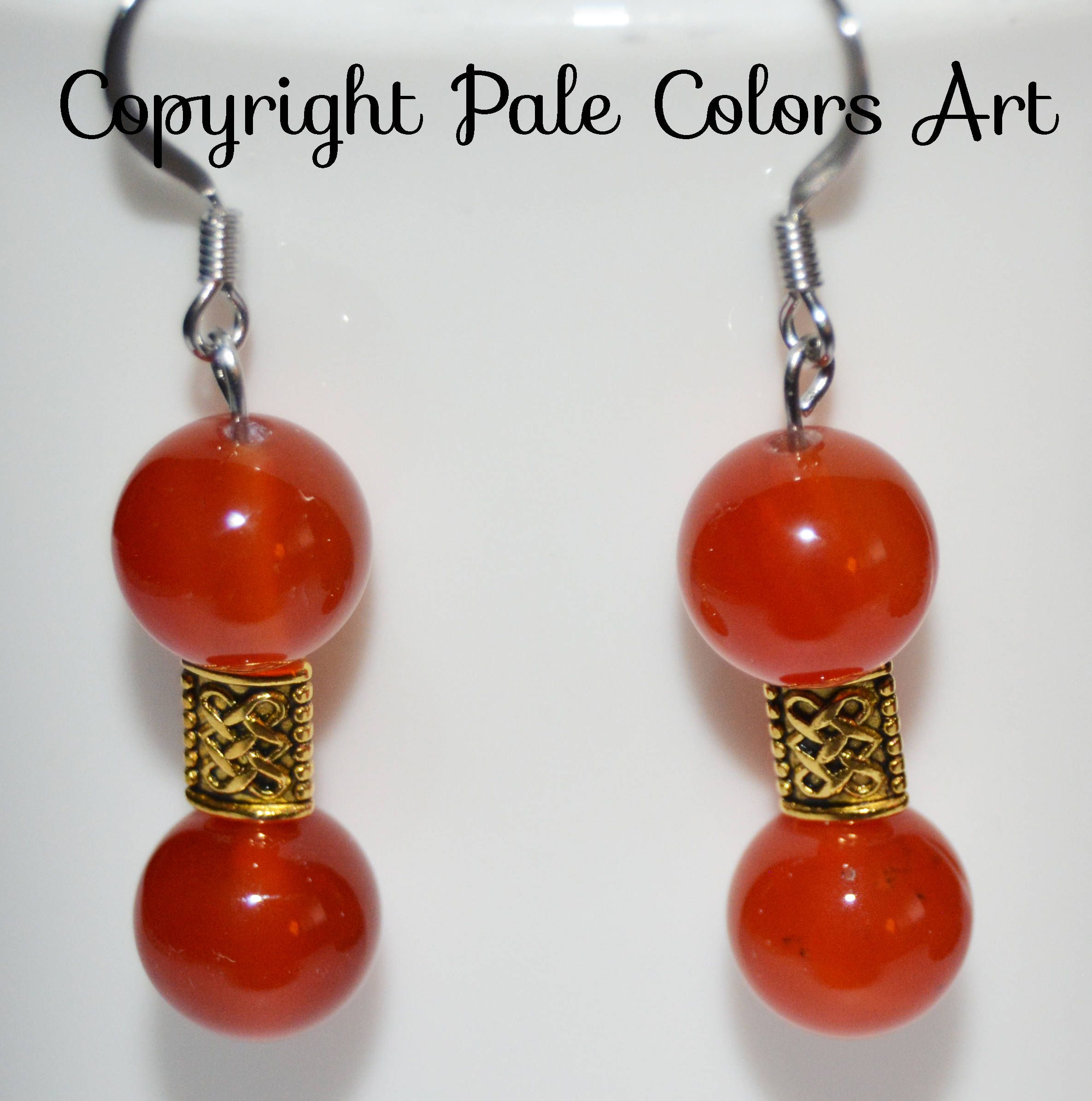 carnelian products african clay earrings earthwhorls llc