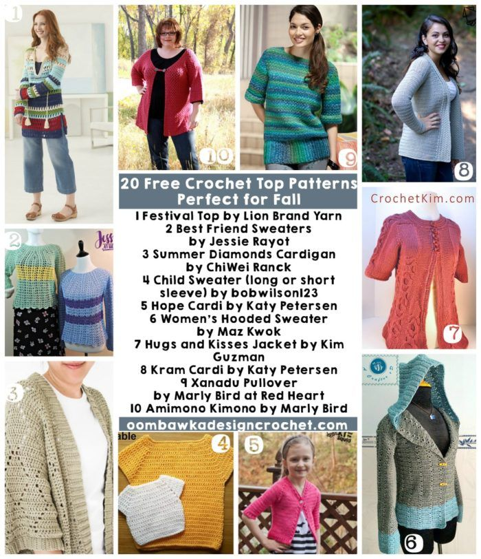 20 Free Crochet Patterns Perfect For Fall Tops | DIY - Häkeln ...