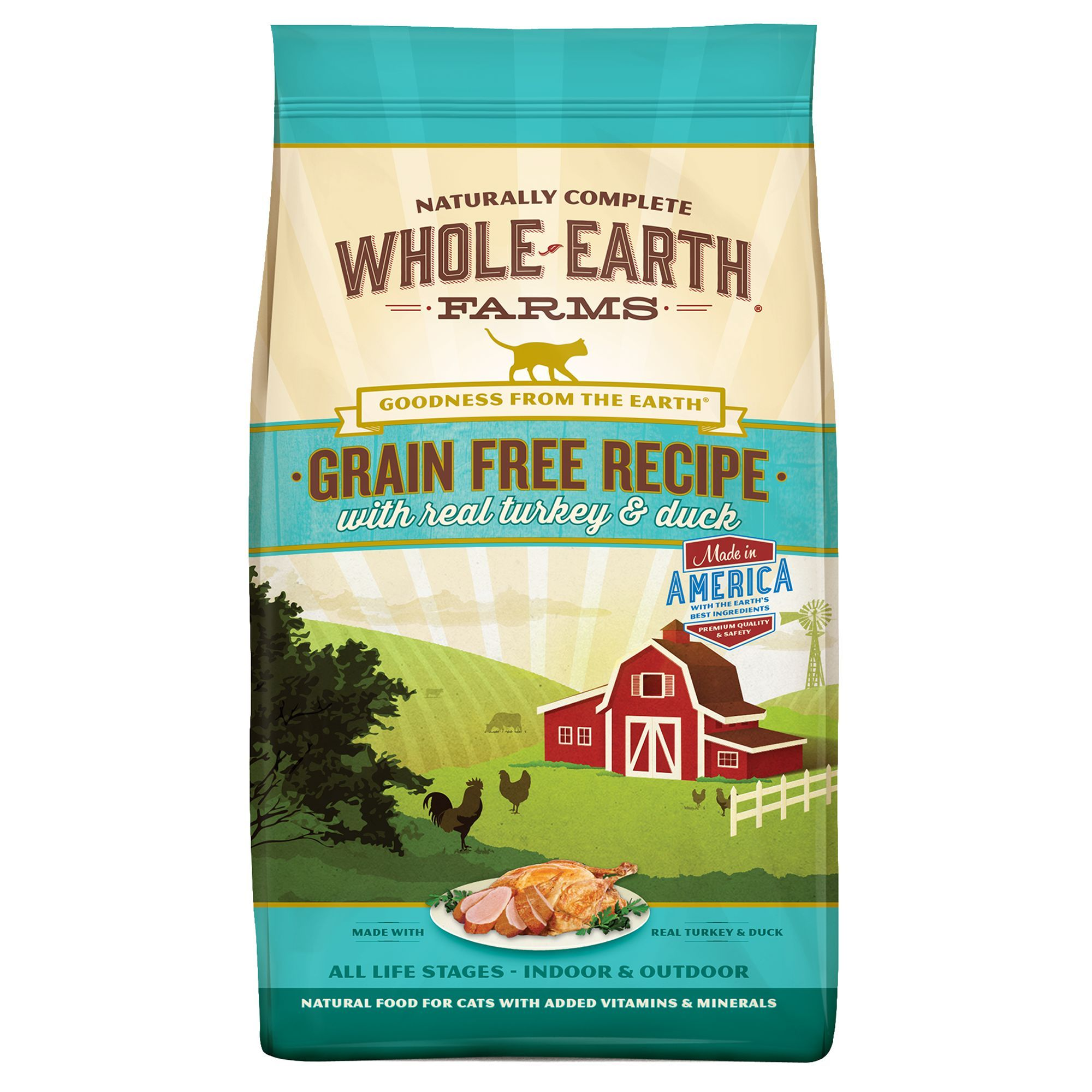 Whole Earth Farms Dry Cat Food Natural, Grain Free