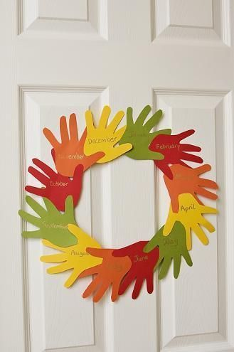 'Handy' Thanksgiving Wreath | Activity | Education.com