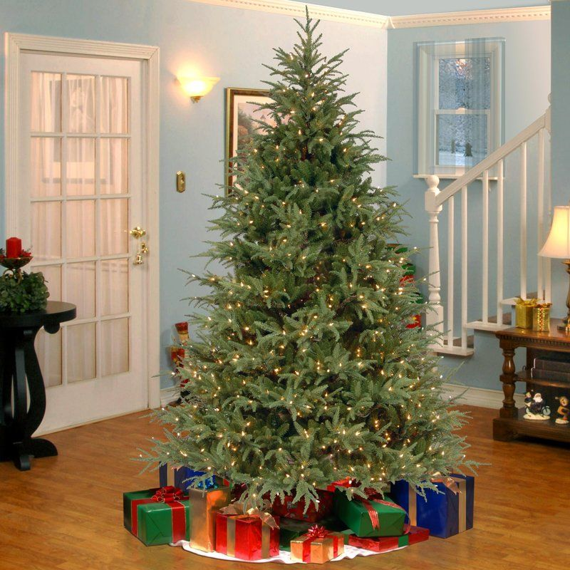 Laurel Foundry Modern Farmhouse Frasier Grande 7 5 Green Artificial Christmas Tree With 1000 Clear Lights Real Christmas Tree Beautiful Christmas Trees Christmas Tree