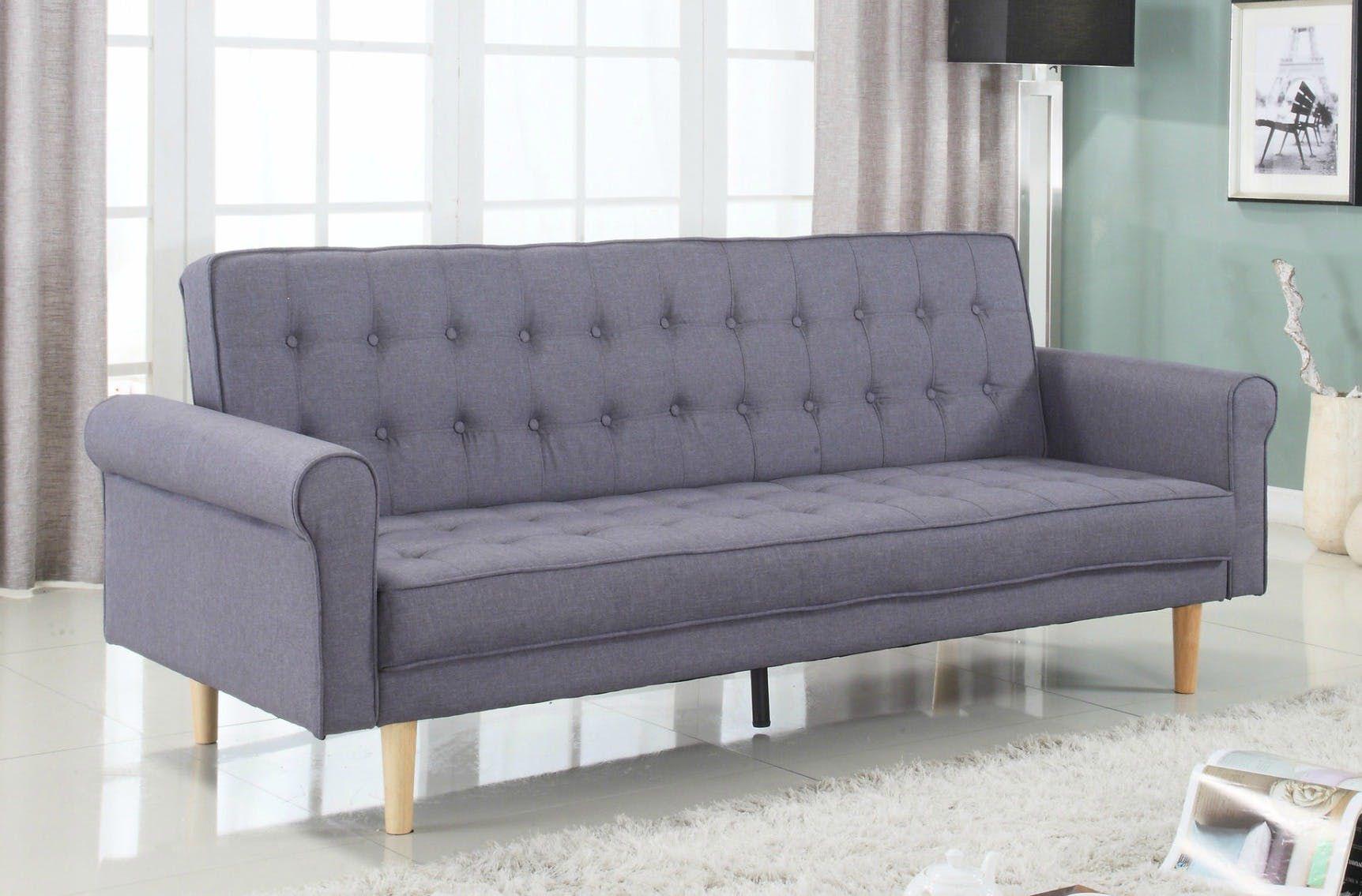 Mid Century Modern Vintage Style Linen Sleeper Futon Sofa 488 99 From