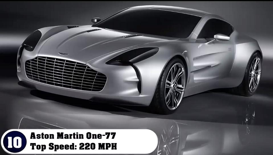 Aston Martin One 77 ~ Top Speed: 220 Mph/354 Kmh