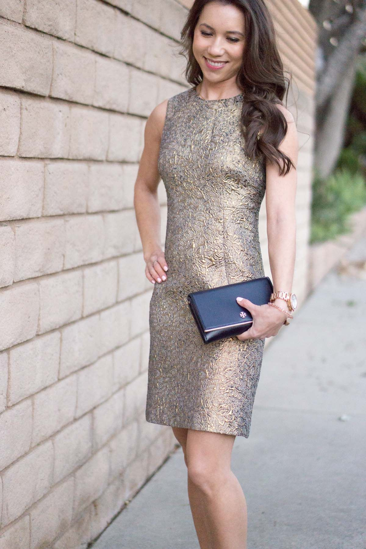Gold Holiday Party Dress How To Style Year Round Pinterest