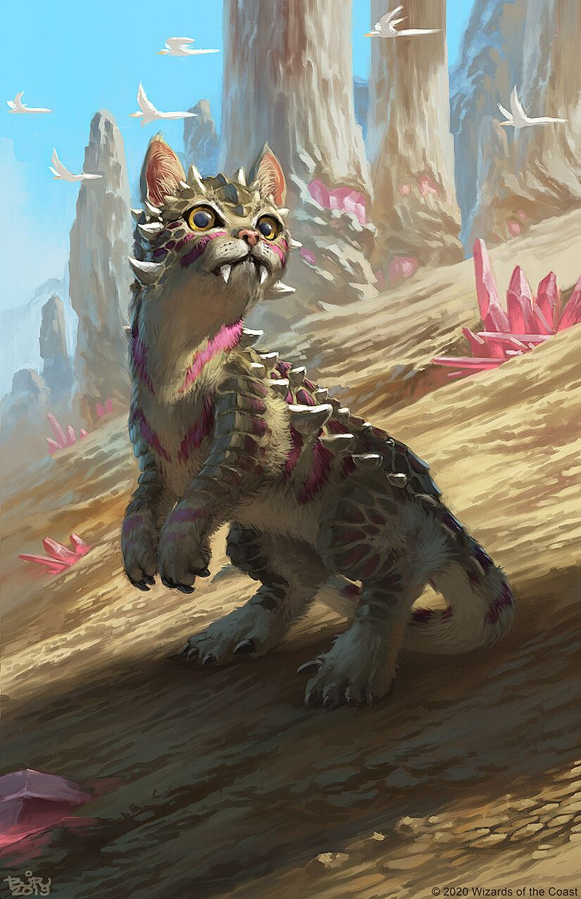 Dinosaur cat magic the gathering brian valeza in 2020