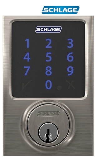 Schlage Touchscreen Electronic Deadbolt With Built In Alarm And Z Wave Plus Technology In 2020 Keyless Entry Door Locks Electronic Deadbolt Schlage