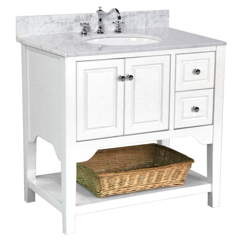 Washington 36-inch Vanity (Carrara/White) | Single ...