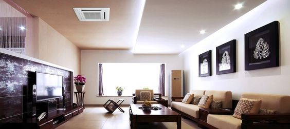 Ductless Ceiling Cassette In Livingroom Ductless