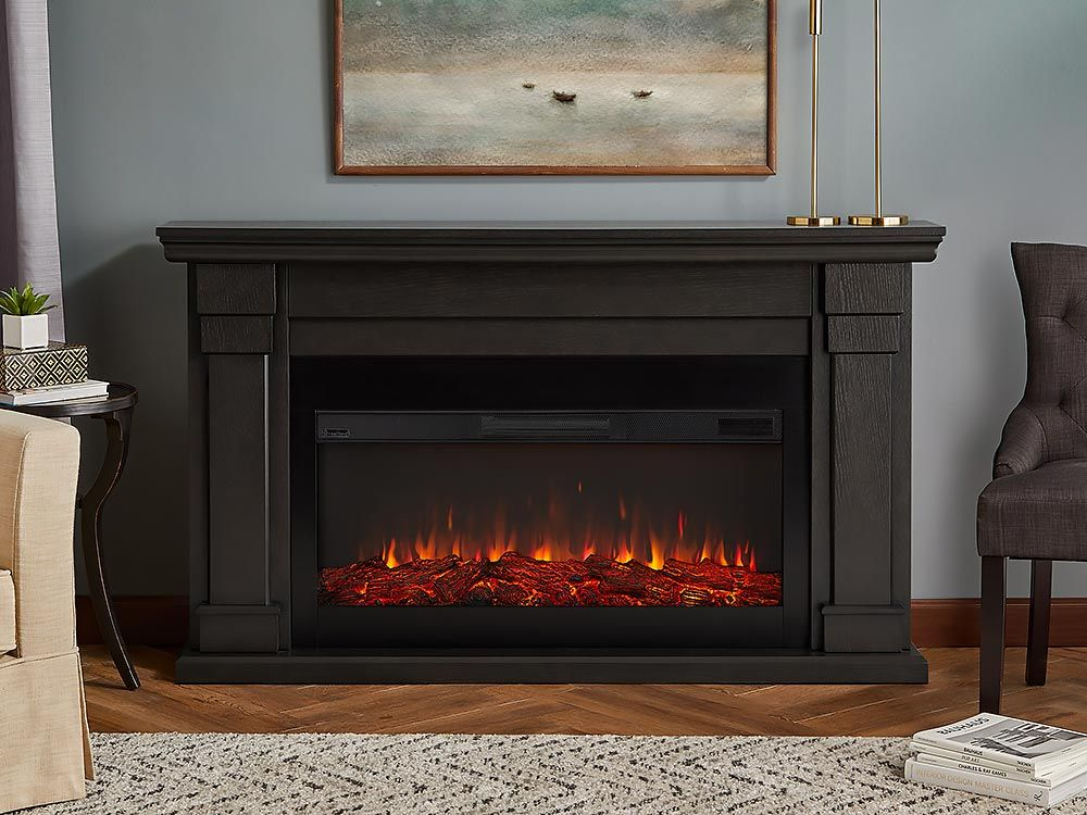 Carlisle Infrared Electric Fireplace Mantel Package In Grey 8230e Gry Electric Fireplace Fireplace Farm House Living Room