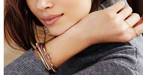 Layered Jewelry - Necklaces, Rings & Bracelets Lookbook | SHOPBOP