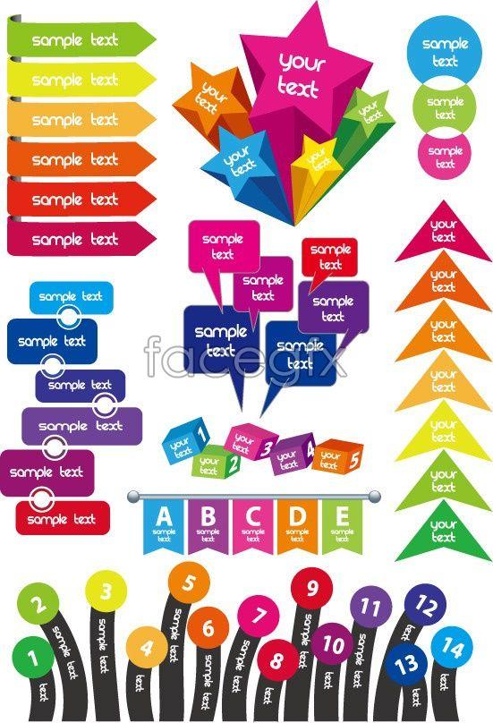 Festive text box label design vector