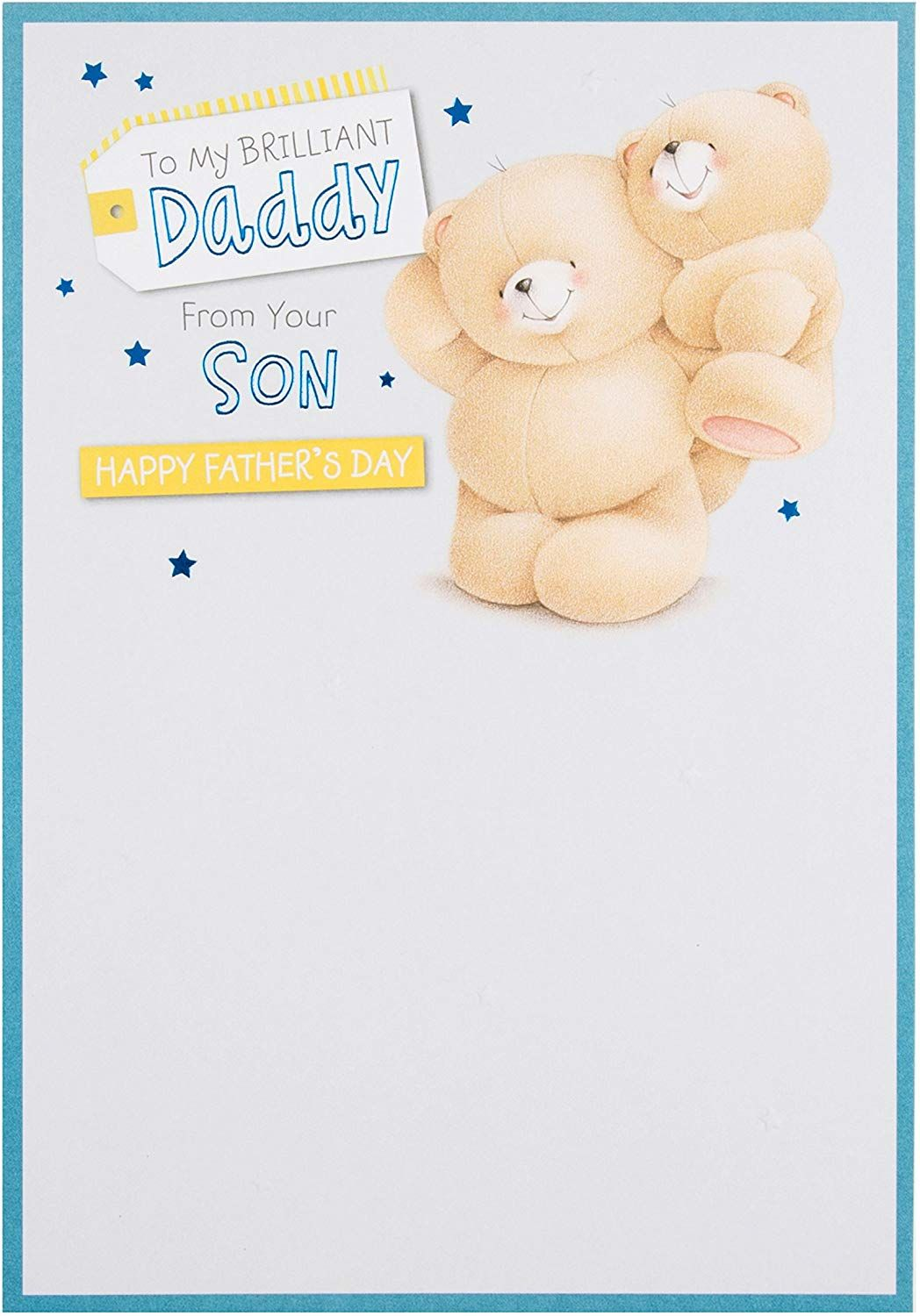 """Hallmark Forever Friends Daddy Father's Day Card""""from Your"""