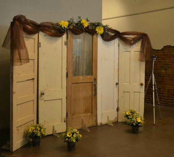 Rustic Door Wedding Ideas: Backdrop Made From Old Doors