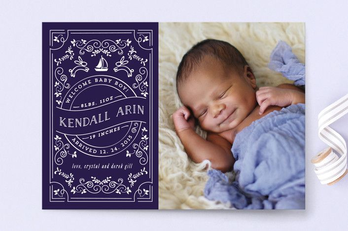 Little Baby Lullaby Birth Announcements by Chris Griffith at minted.com