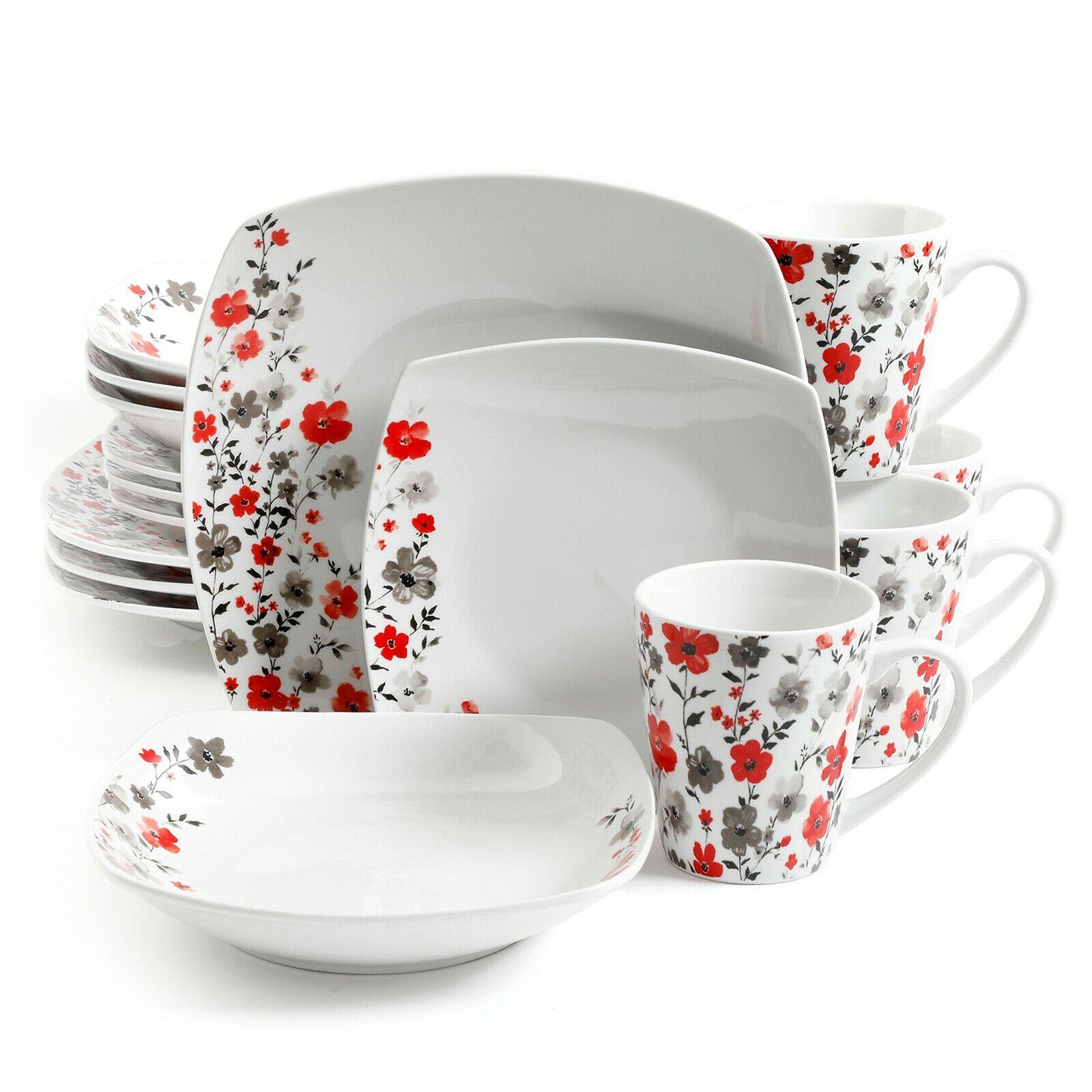 Rosetta Floral 16-Piece Ceramic Dinnerware Set  Service for Four Multi-Color  - Dinnerware - Ideas of Dinnerware #Dinnerware #casualdinnerware
