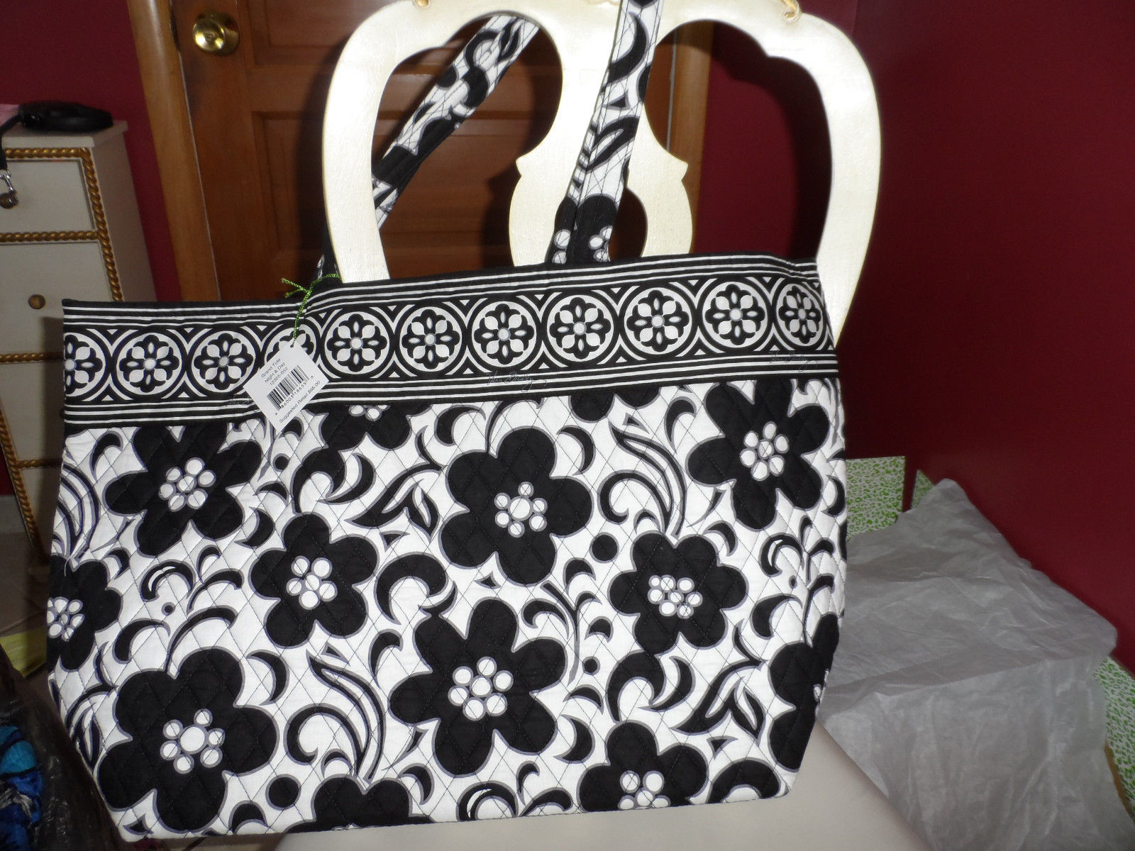 40.00$  Watch now - http://viese.justgood.pw/vig/item.php?t=1db1ow121736 - Vera Bradley Grand Tote in Night and day pattern NWT