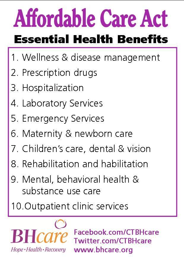 #ACA 10 Essential Health Benefits