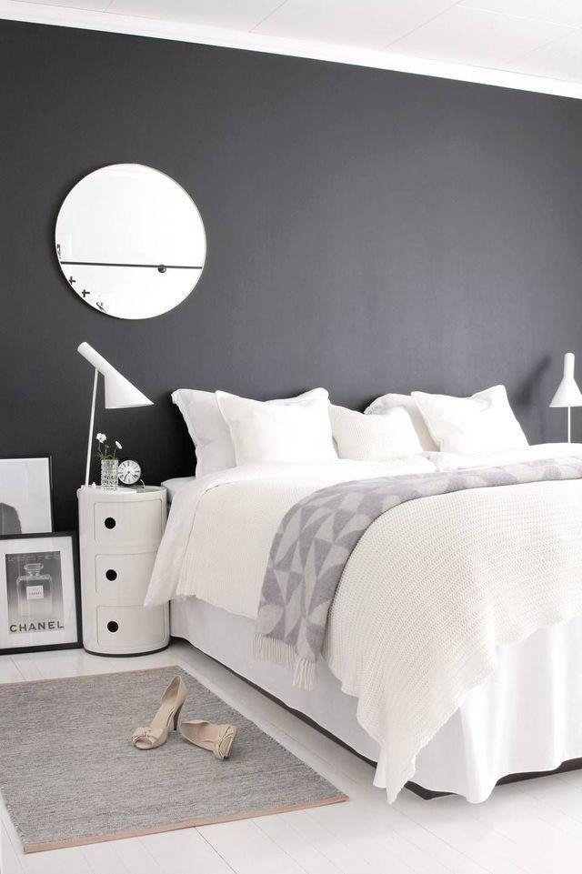 Relooking Deco Chambre En Noir Et Blanc Chambre Bedroom Room Et