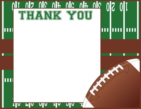 Football Thank You Card Football Thank You by ADTRCustomDesigns