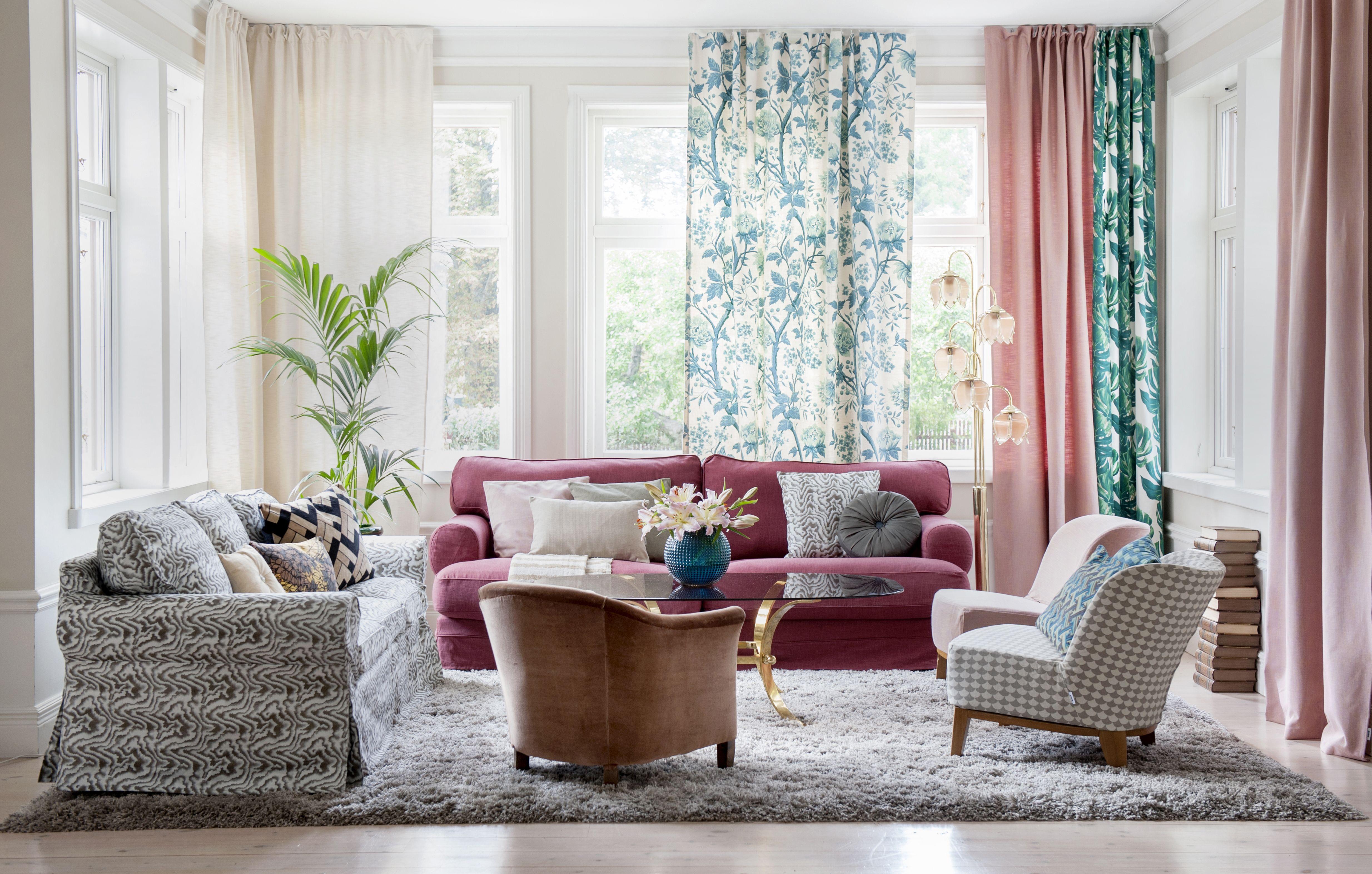 Boho Chic Wohnzimmer IKEA Sofas Und Helle Farben Machen Dieses Zimmer Zu Einem Gemtlichen Wohlfhlraum