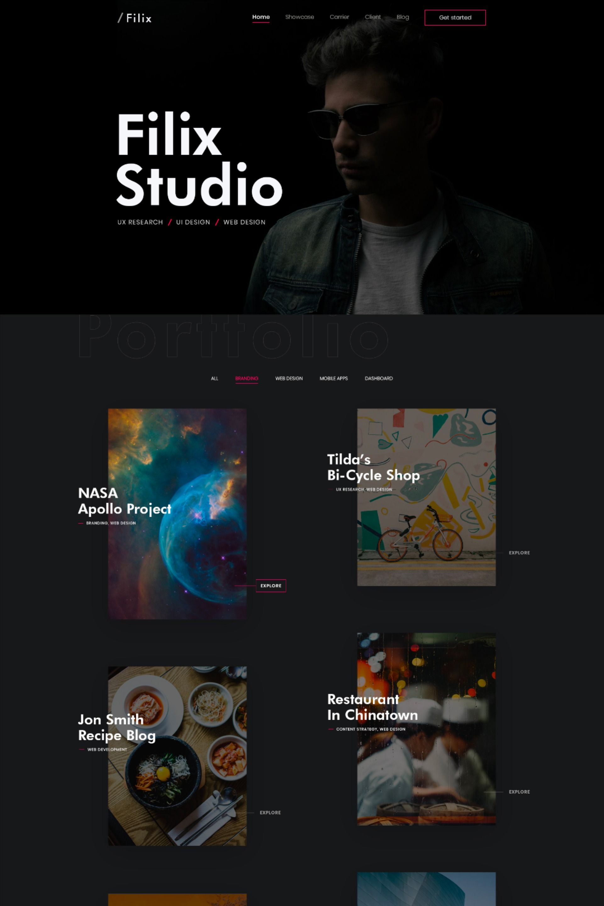 Creative Minimal Portfolio WordPress Theme #userexperience