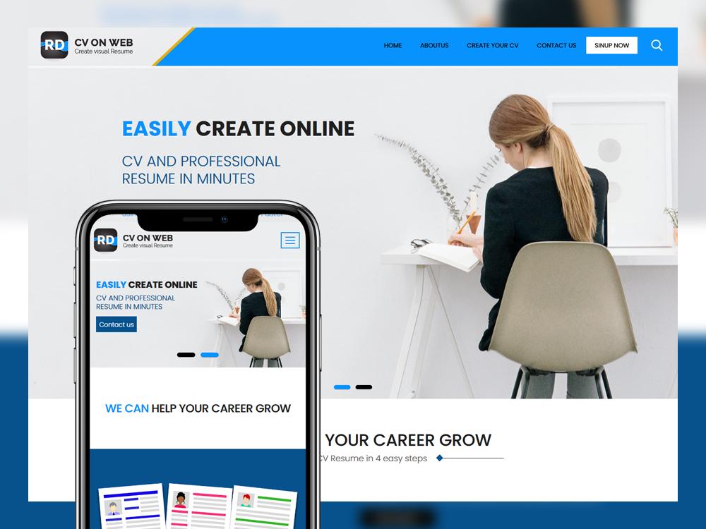 Cv Web Free Html Resume Template Cv Template Resume Website Template Unique Resume
