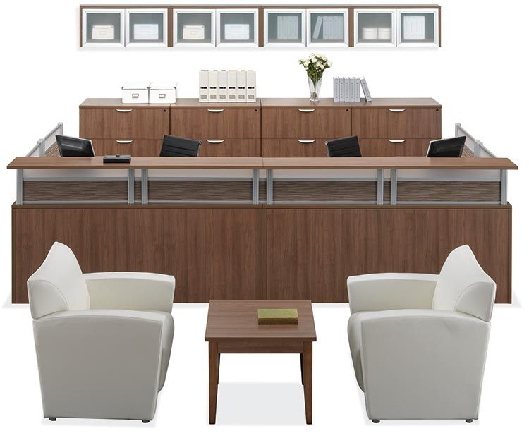Awe Inspiring 2 Person Reception Workstation By Office Source Desks In Download Free Architecture Designs Jebrpmadebymaigaardcom