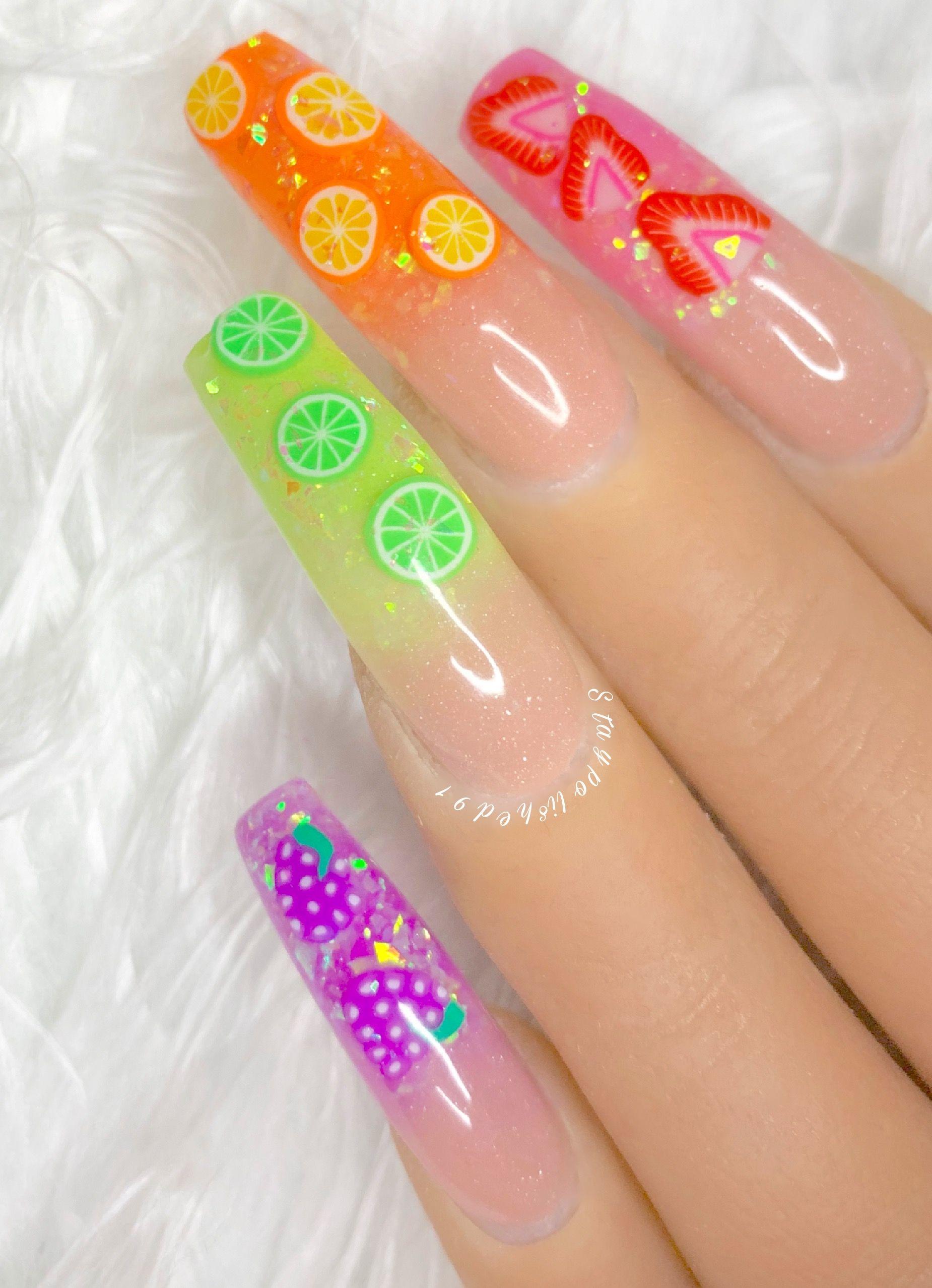 Staypolished91 Instagram Unique Acrylic Nails Fruit Nail Designs Acrylic Nail Designs