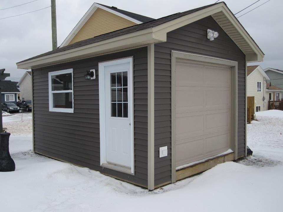 charming shed with garage door #1: 12u0027 x 16u0027 shed with overhead door