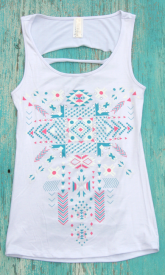 Ripped Cowgirl Tank $19.99