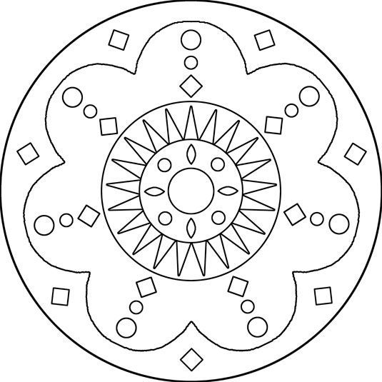 simple mosaic coloring pages for kids