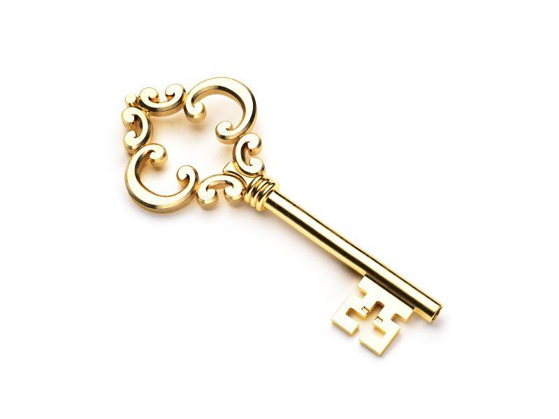 Key The Golden Key Of Success Golden Key Antique Keys Key Tattoos