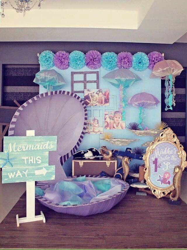 meerjungfrau party dekoration ideen f r den meerjungfrauen kindergeburtstag meerjungfrau. Black Bedroom Furniture Sets. Home Design Ideas