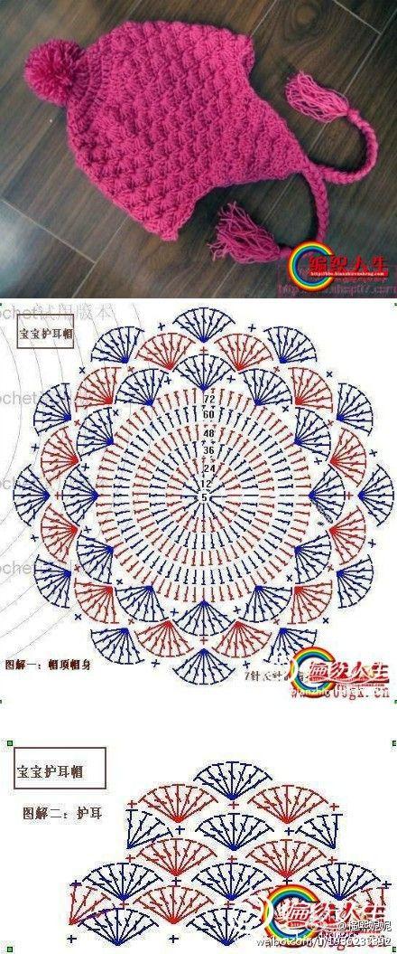 gorro handmade crochet crochet arte de Vivir   Crochet   Pinterest ...
