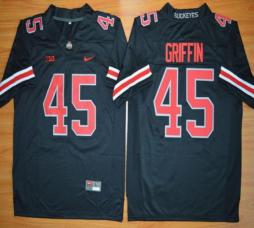 Ohio State Buckeyes Archie Griffin 45 NCAA Football Jersey - Blackout d7f2c82f5