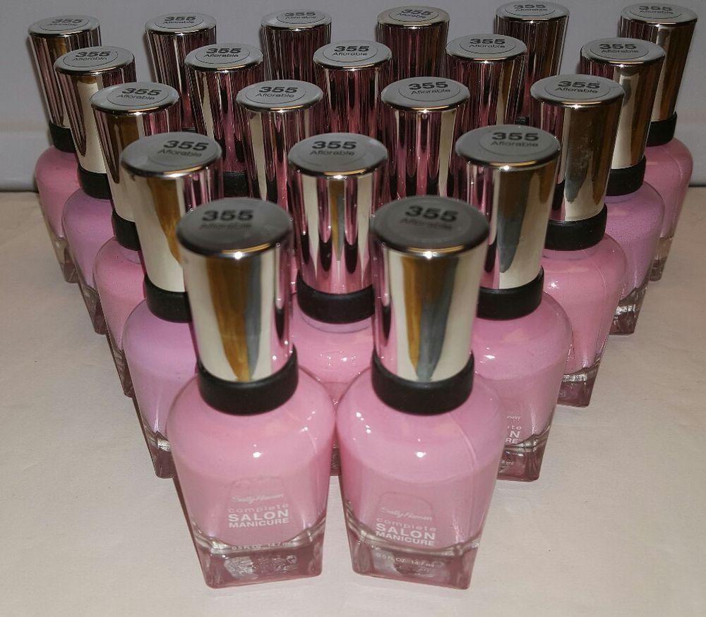 20 Sally Hansen Salon Manicure Nail Polish PINK Baby