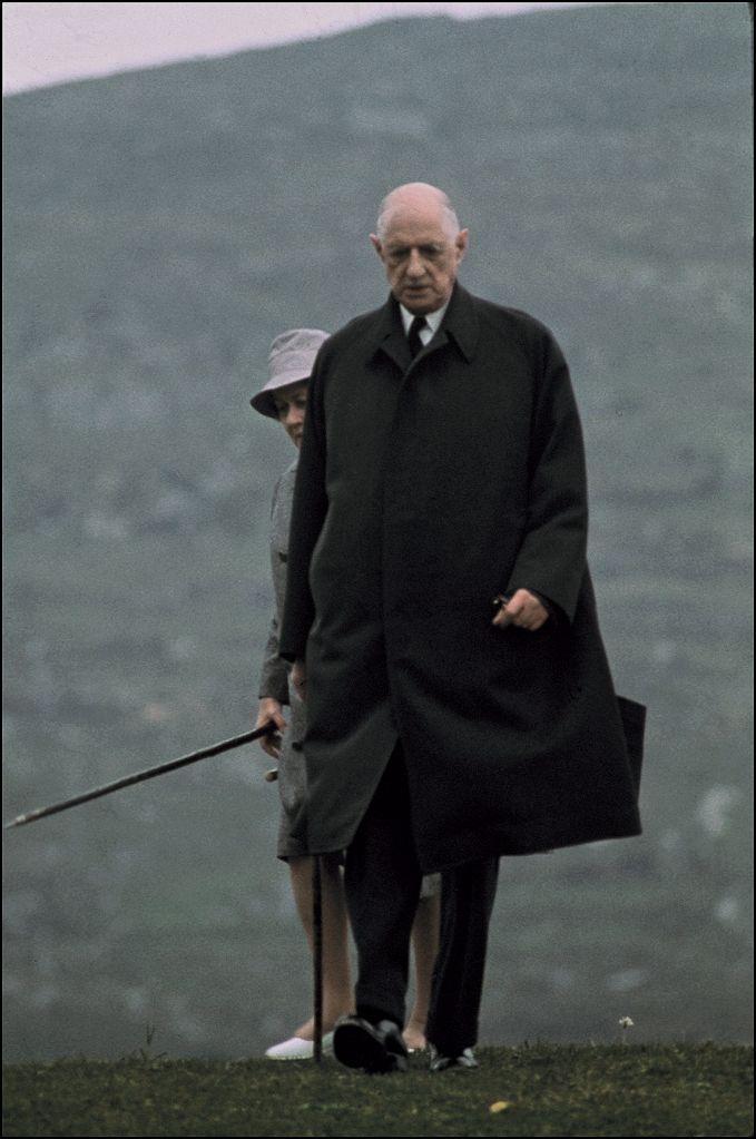 Charles Et Yvonne De Gaulle En Irlande 1969 Photo Jean Pierre Bonnotte General Francais Personnages Historiques Presidents Francais