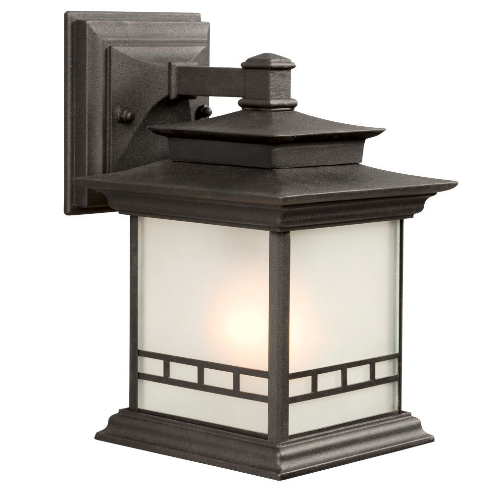 Front light fixture replacement black outdoor fixture with frosted