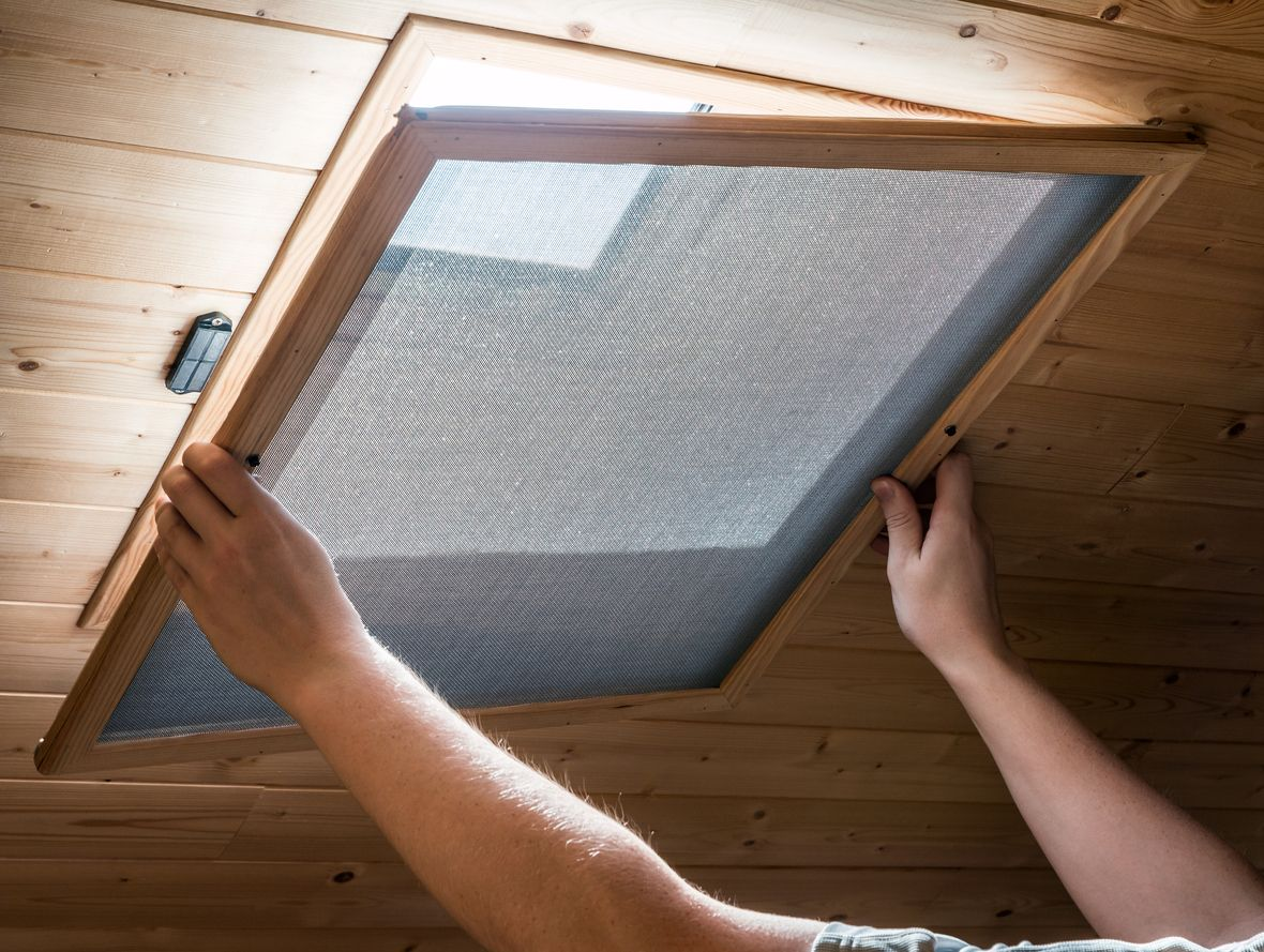 How To Build Your Own Flyscreens Velux Mosquito Net Skylight