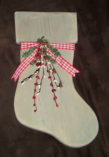 Full Circle Creations: Wooden stocking...