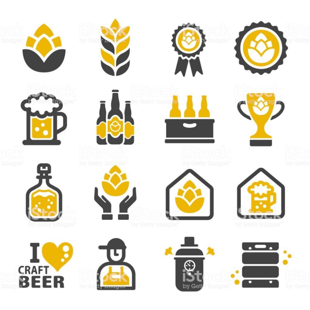 Craft Beer Icon Set Beer Icon Beer Illustration Craft Beer