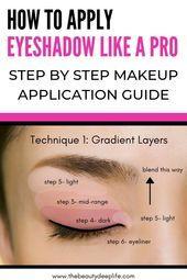 Cómo aplicar Eyeshadow Like A Pro: Guía de maquillaje paso a paso Maquillaje de ojos simple …