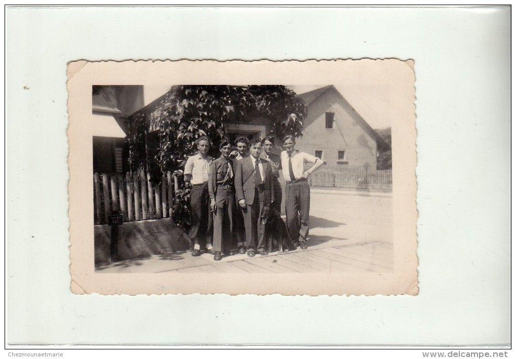 SUISSE - THAYNGEN - 1947 - HYDRANT 6.00 - PHOTO MILITAIRE 10 X 6.5 CM