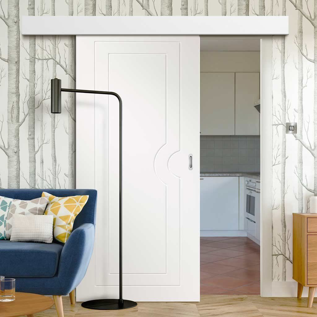 Bruges 2 Panel Smooth White Door Pair Prefinished 1000 In 2020 White Doors Doors Interior Closet Decor